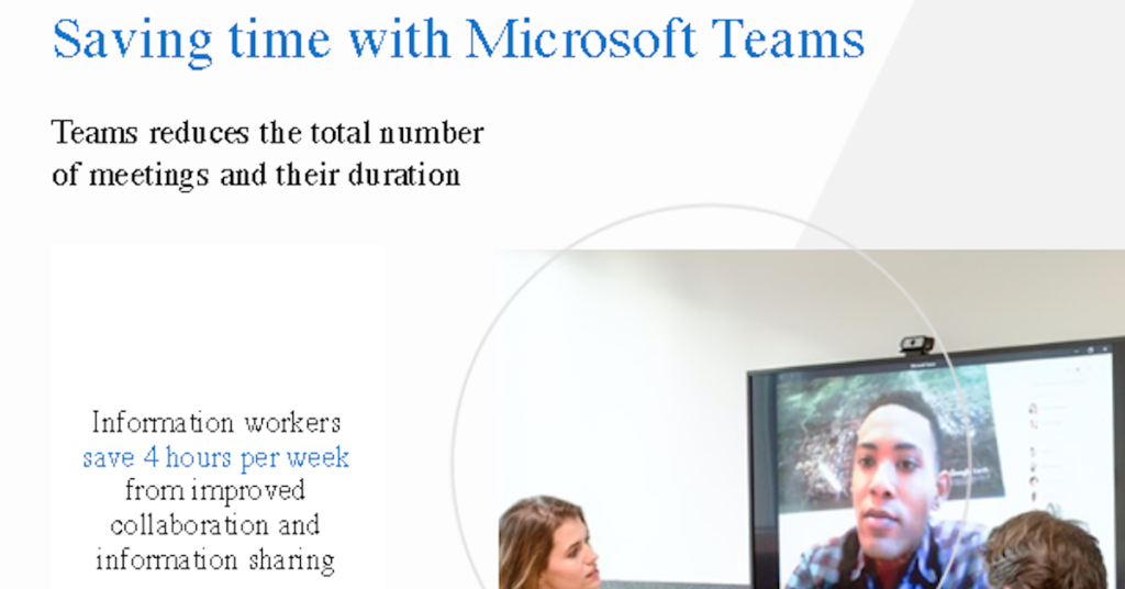 Microsoft Teams infographic - TeraCloud Managed IT Services