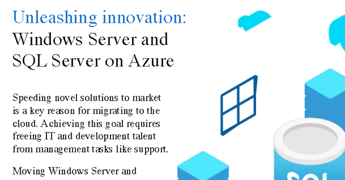 Windows and SQL Server on Azure infographic - TeraCloud Managed IT Services and Cloud Service