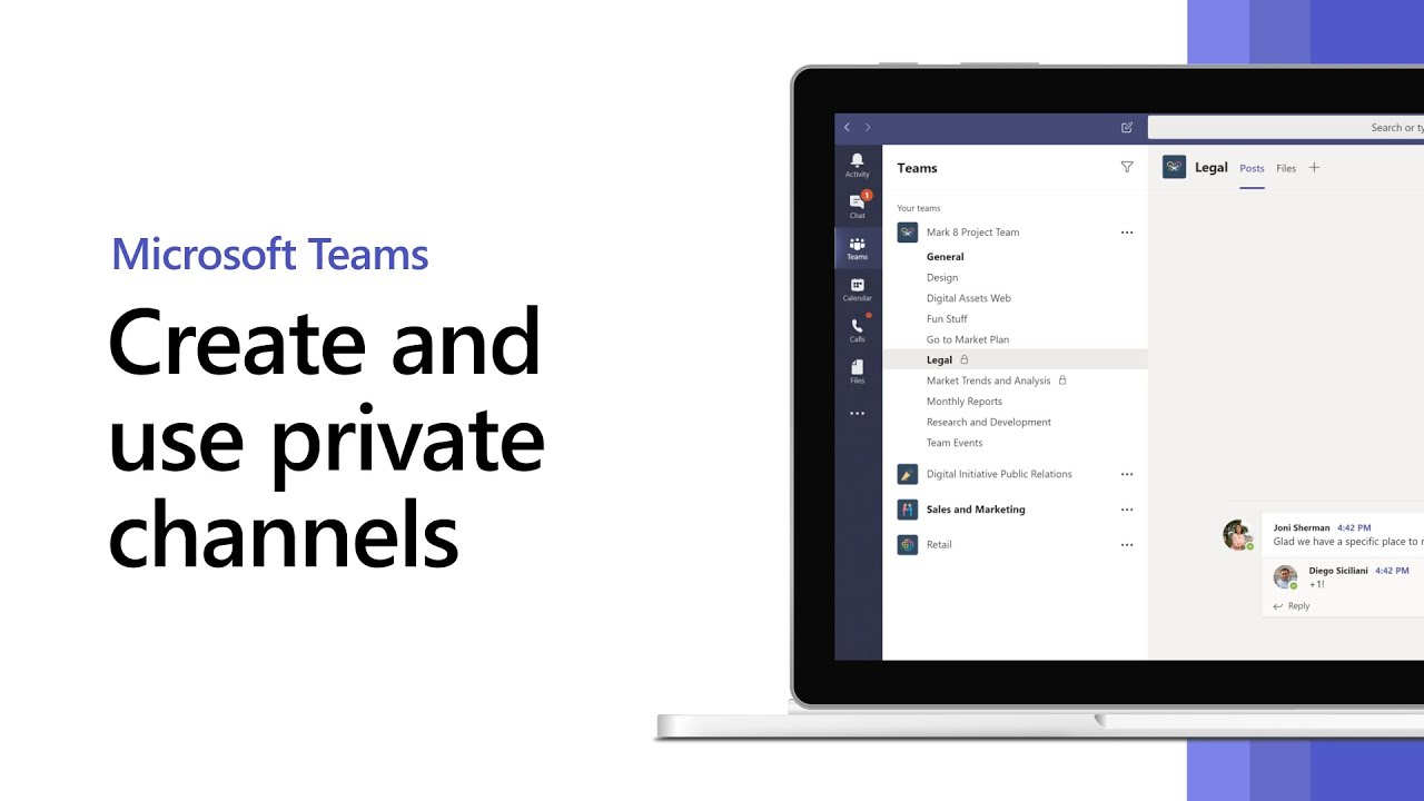 Private channels in Microsoft Teams infographic