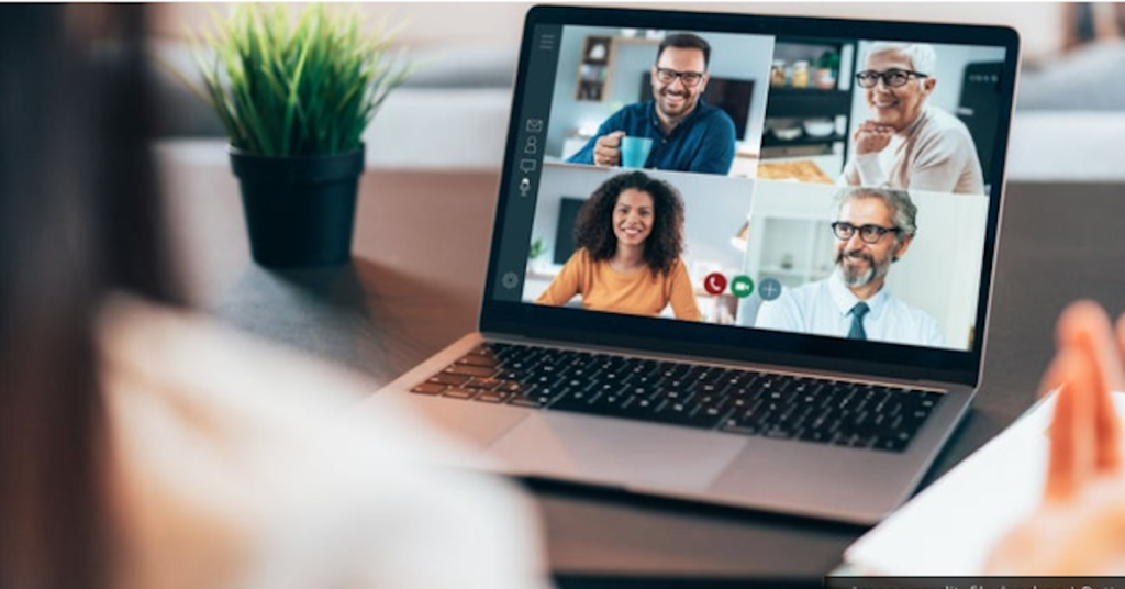 Screenshot of virtual meeting