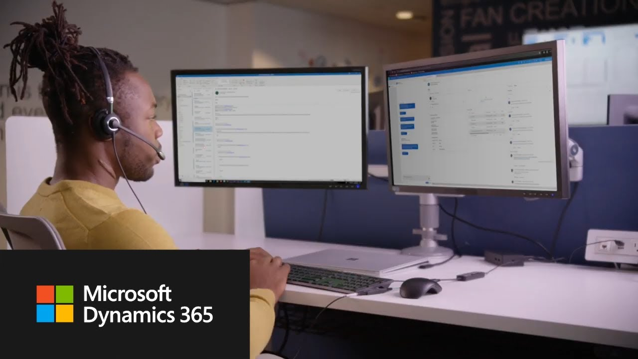 Image of user using Dynamics 365