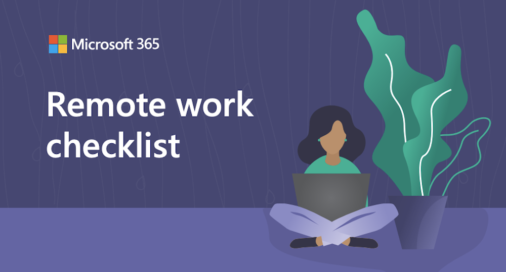 Remote work checklist graphic